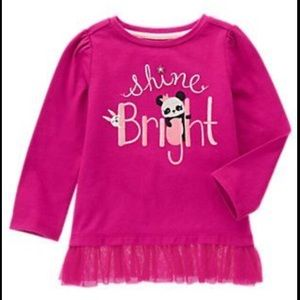 Gymboree Petal Pink Shine Bright Girls Long Tee 4T